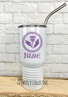 Scottish Thistle with a Celtic Knot Circle 20 oz Stainless Steel Core Insulated Tumbler