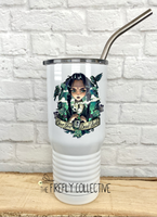 Wednesday Addams Over Your Dead Body 20 oz Stainless Steel Core Insulated Tumbler