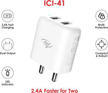 Load image into Gallery viewer, ITEL 2USB 2.4A FASTER CHARGING CHARGER KIT ICI-41