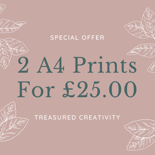 special offer for 2 a4 wall prints