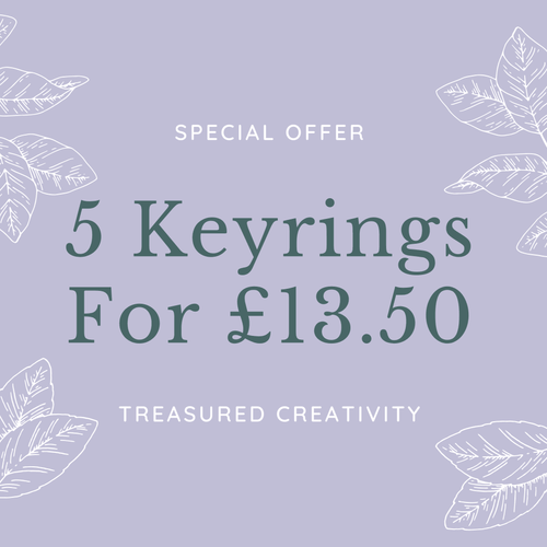 5 bible verse keyrings special offer
