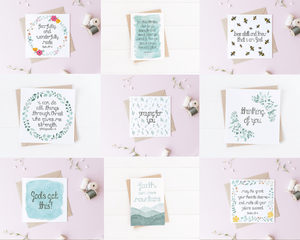 variety of encouraging bible verse cards