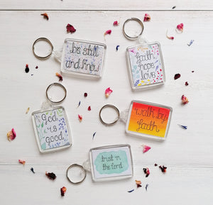 christian bible verse keyrings