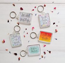 Load image into Gallery viewer, 5 bible verse keyrings