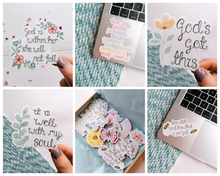 Load image into Gallery viewer, set of 5 encouraging bible verse stickers