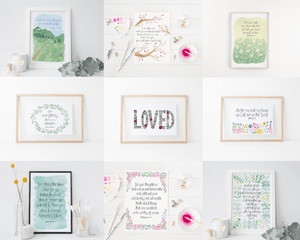 mix and match bible verse art prints for the home
