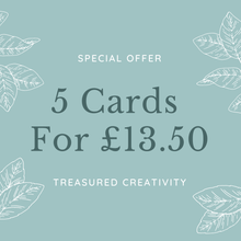 Load image into Gallery viewer, 5 greetings cards special offer