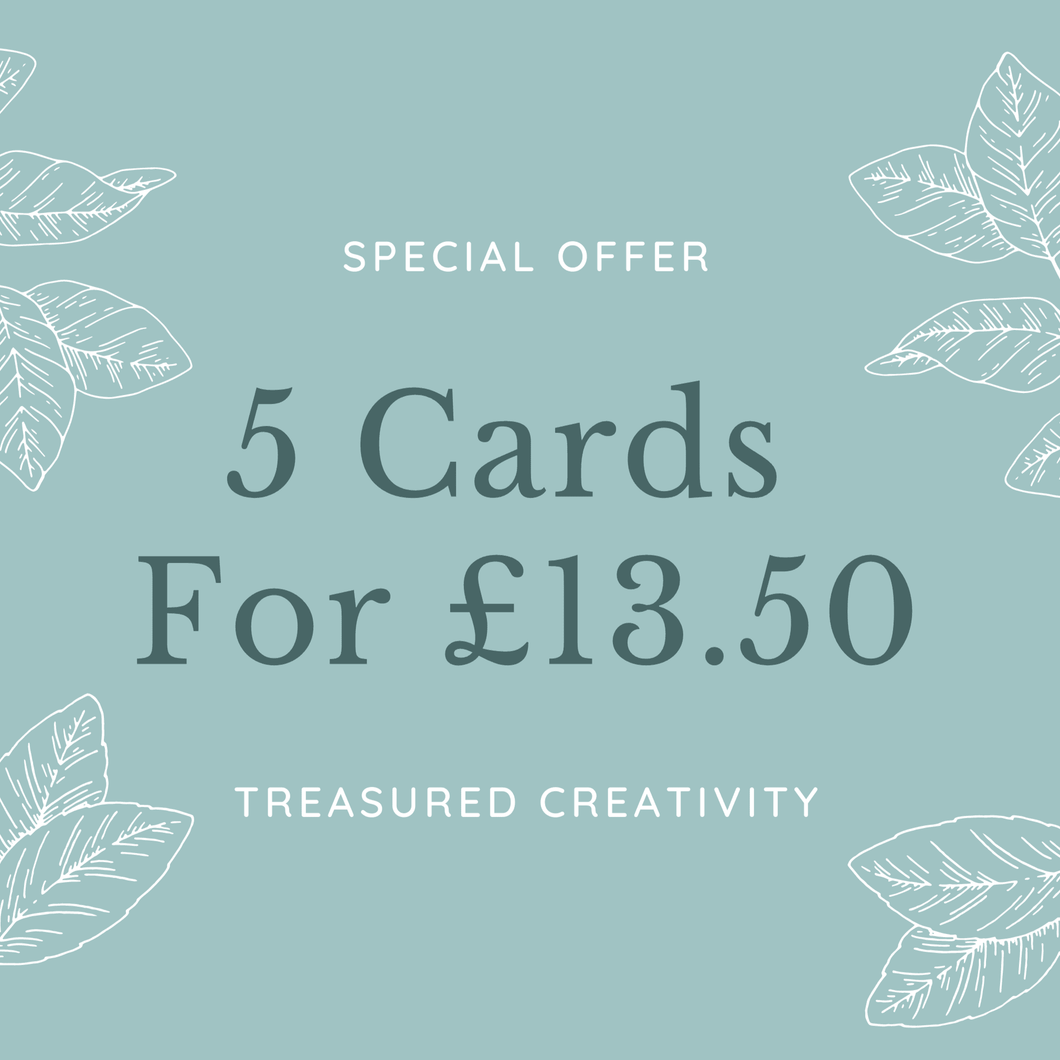 5 greetings cards special offer