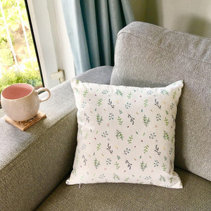 botanical cushion cover design