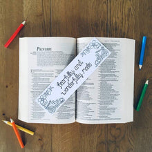 Load image into Gallery viewer, Fearfully And Wonderfully Made Colouring Bible Verse Bookmark