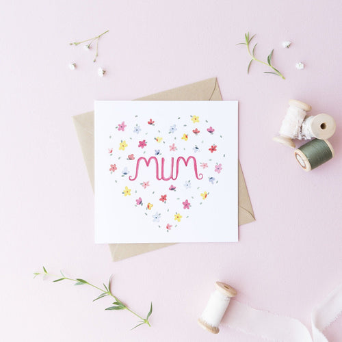 Flower Mum Greetings Card