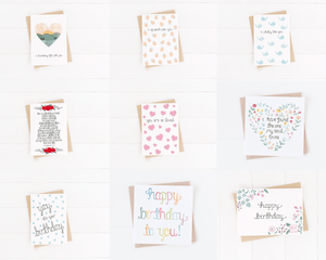 mix and match birthday and love cards
