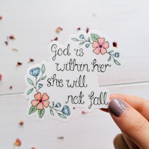 god is within her bible verse sticker