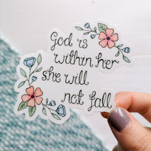 Load image into Gallery viewer, psalm 46 5 vinyl sticker with flowers