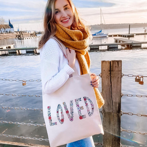 loved flower tote bag