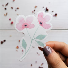 Load image into Gallery viewer, pink floral vinyl sticker