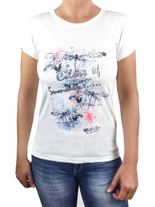 T-shirt donna fotocromatica  mod. Dragonfly, bianco