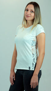 T-shirt donna ROSE, bianco