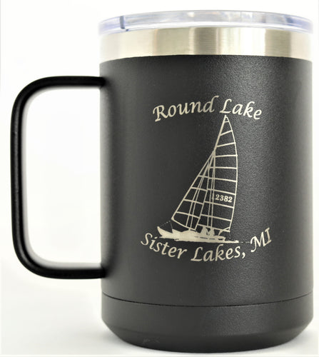 Round Lake 16 oz. Coffee Mug