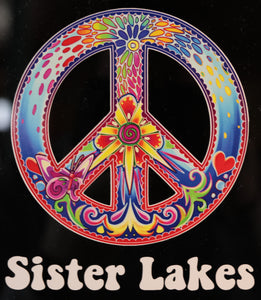 Sister Lakes Peace Sticker