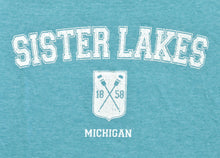 Load image into Gallery viewer, Sister Lakes 1858 Oars Crest T-shirt (3 Colors)