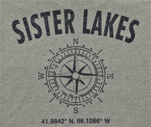 Load image into Gallery viewer, Sister Lakes Compass Coordinates T-Shirt (2 Colors)