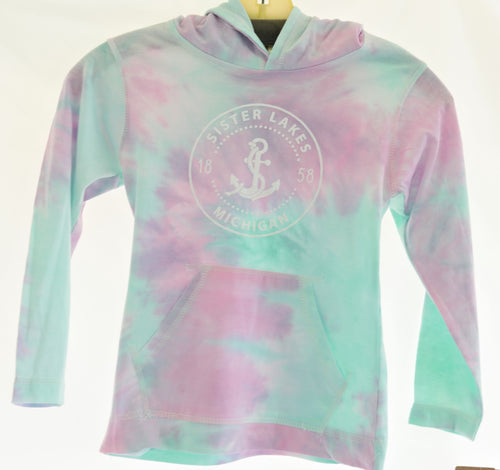 Youth Girls Tie-Dye Jersey Hoodie (2 Colors)
