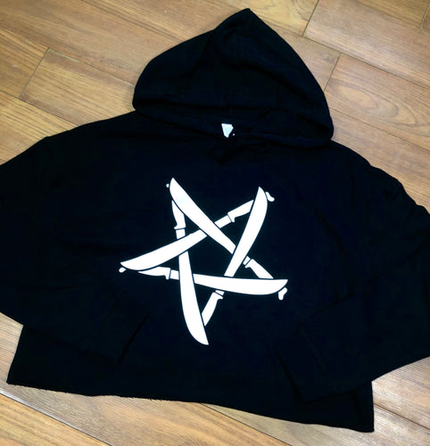 Machetegram crop top hoodie