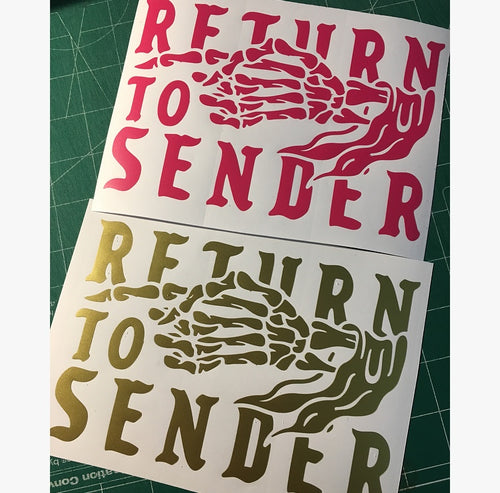 Return to Sender decal 7 inch