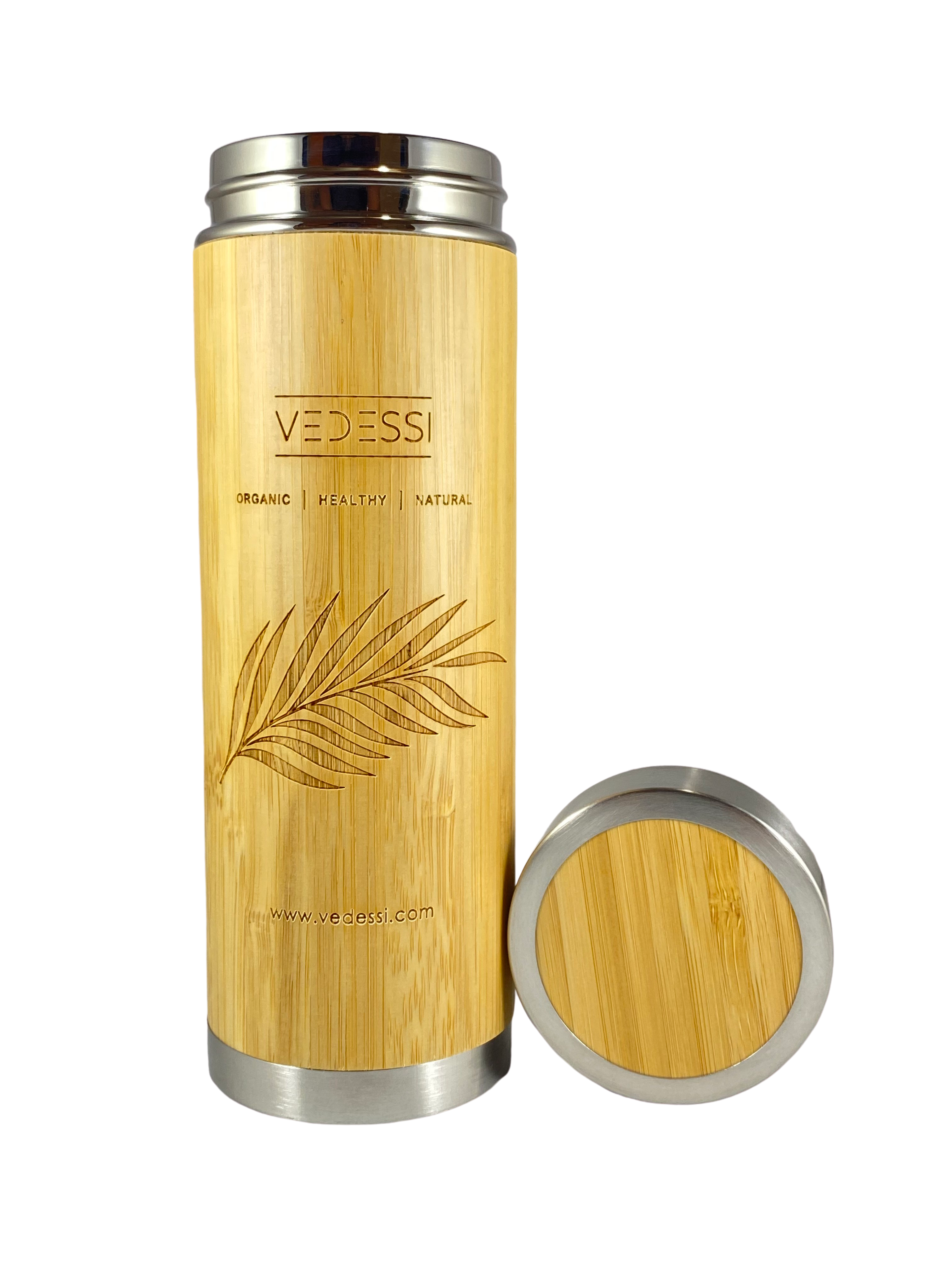 Bamboo Tumbler with Strainer - Vedessi
