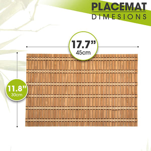 Bamboo Placemats – 4 pcs Table Runner - Vedessi