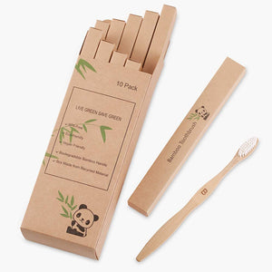 10 Pack Organic Bamboo Toothbrush - Vedessi