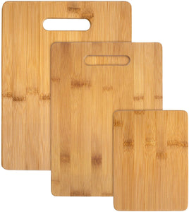 Bamboo 3-Piece Bamboo Serving and Cutting Board Set - Vedessi