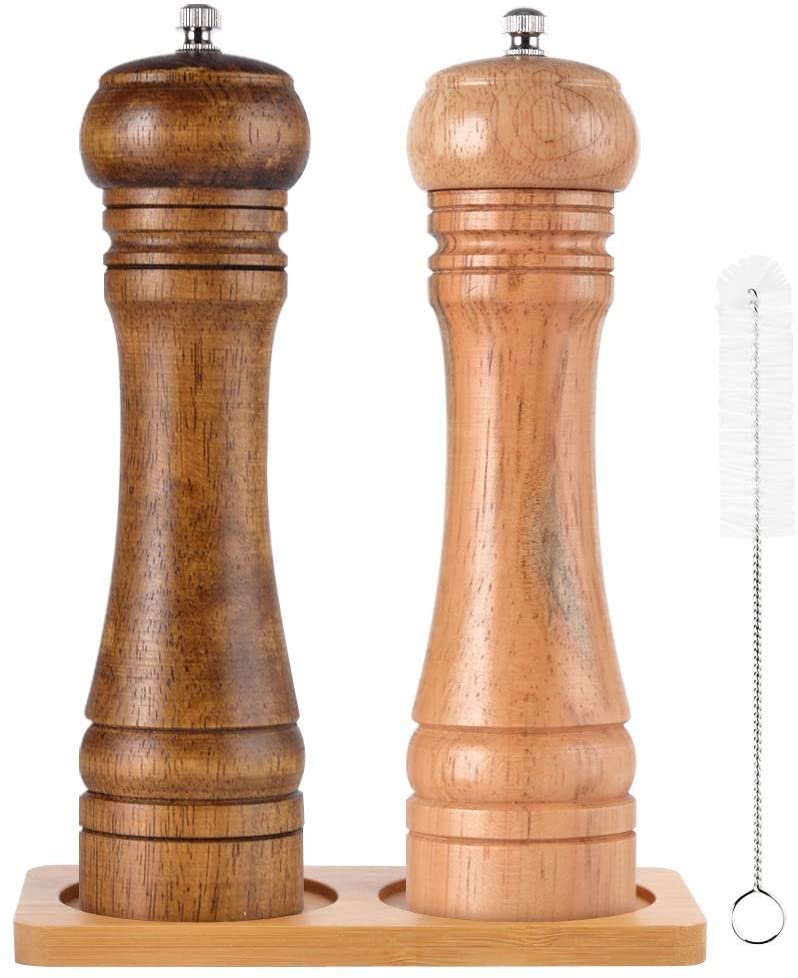 Oak Wooden Salt Pepper Grinder - Set of 2 - Vedessi