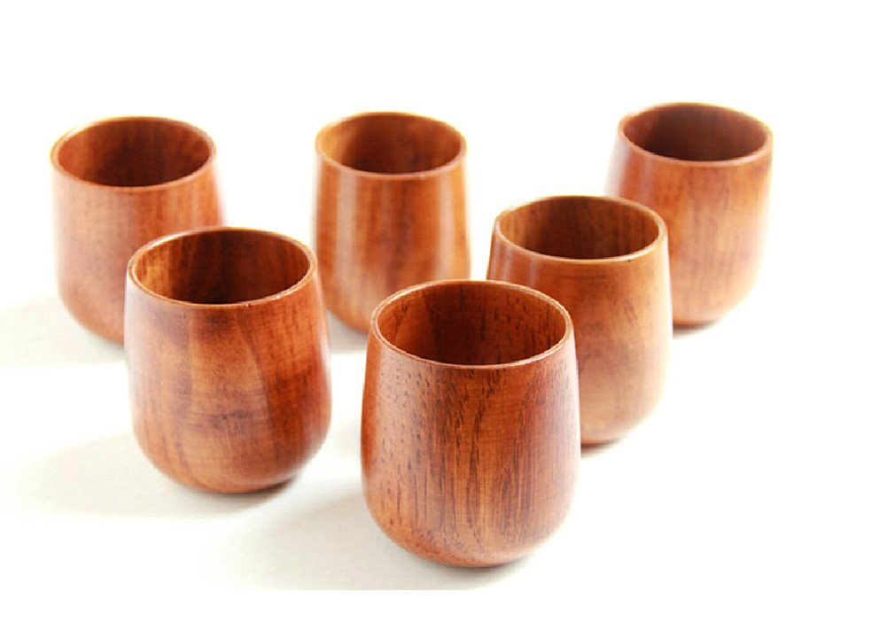 4 Wooden Tea Cup Set - 250 ml - Vedessi