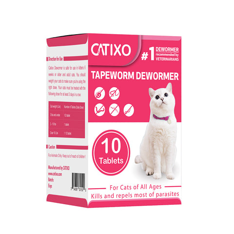 catixo cat dewormer-10-tablets