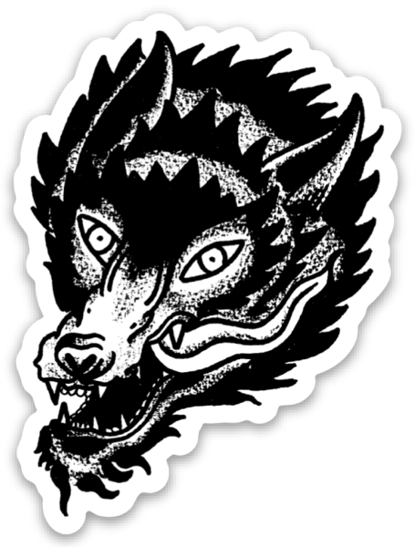 The Wolf Sticker