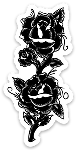 "3"" Rose Vinyl Sticker"