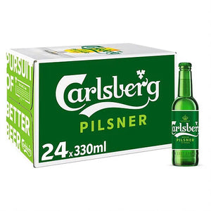 Carlsberg pilsner bottles 24x330ml