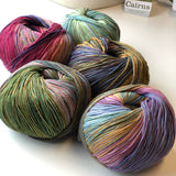 5 different skeins of Carins