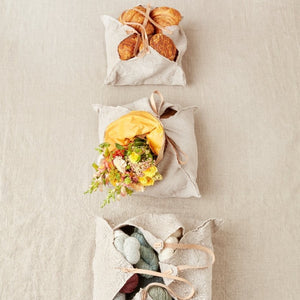 Rustic Linen Four Corner Bag