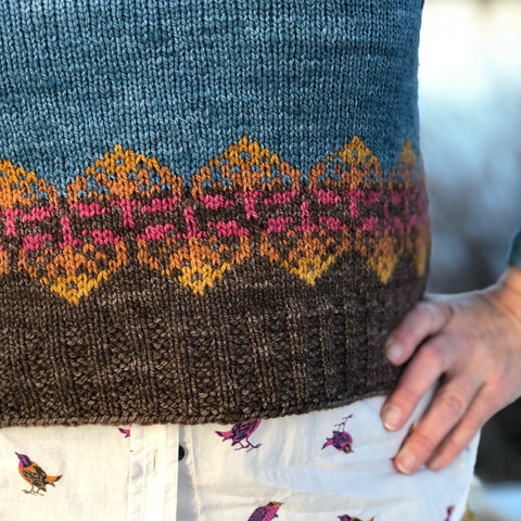 Copper Leaf Pullover Pattern