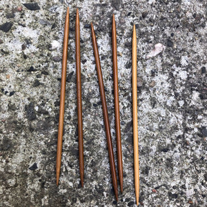 ChiaoGoo Bamboo Patina Double Pointed Needles