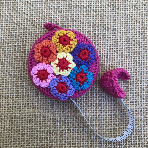 Crochet-covered Tape Measure