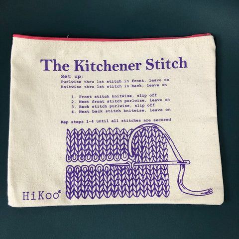 Kitchener Stitch Zip Pouch