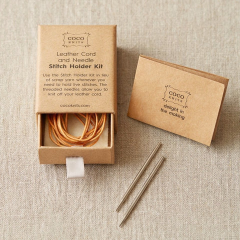 Leather Cord and Needle Stitch Holder Kit