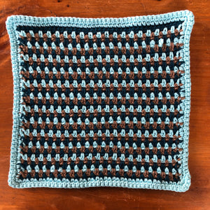 Linen-Stitch Dishcloth Pattern