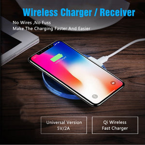 Qi Quick Wireless Cell Phone Charging Pad