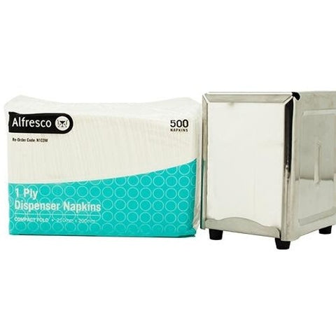 TP Alfresco Dispenser Napkin - Compact - White - 1py - 5000/ctn