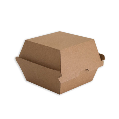TP Paper Board Burger Box Large - 110 x 110 x 105mm - Kraft